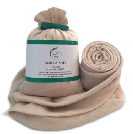 Organic swadle blanket mary and kate burritobuzz
