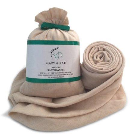 Organic swadle blanket mary and kate burritobuzz