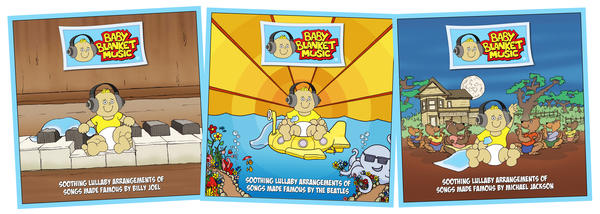Soothing Lullaby Arrangements of Songs Michael Jackson Baby Blanket Music CD
